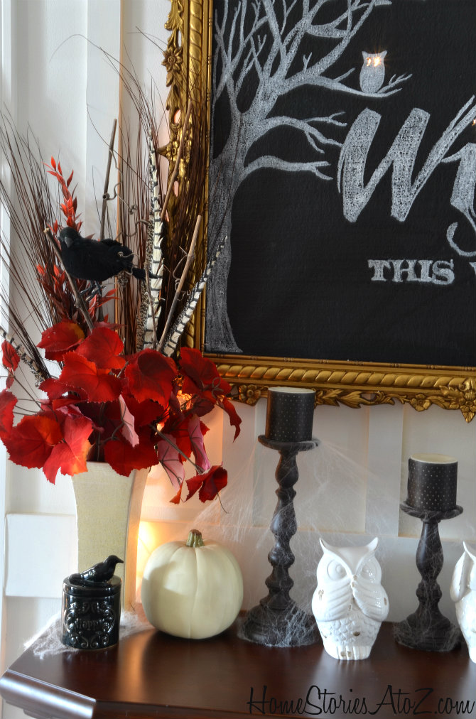 halloween mantel home stories a to z